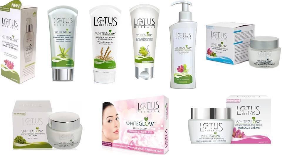 Lotus Herbal Skin Care White glow Range Choose From 9 Variants All Skin Type