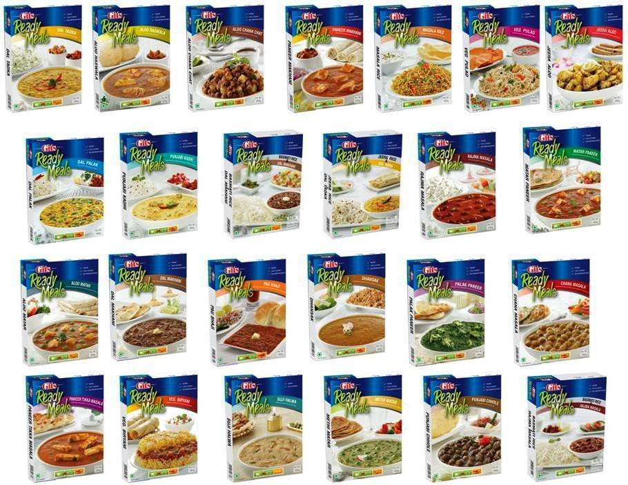 Gits  Ready Meals  Choose from 25 Variants  Instant Indian Meal 100% Veg