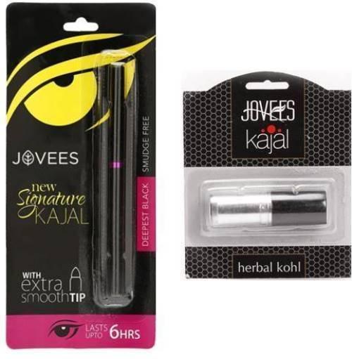 Jovees Herbal Eye Care Herbal Kohl 3 Gm &  New Signature Kajal 0.3 Gm