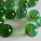 Marbles Green Round Glass Goti Kids Play Set of 24 from India