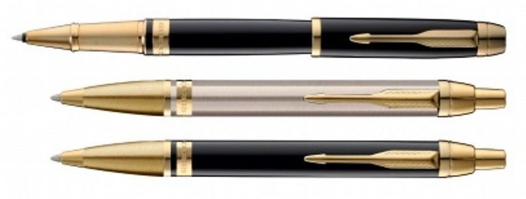 Parker ODYSSEY Gold Trim Roller Ball & Ballpoint Pen Choose from 3 Variants