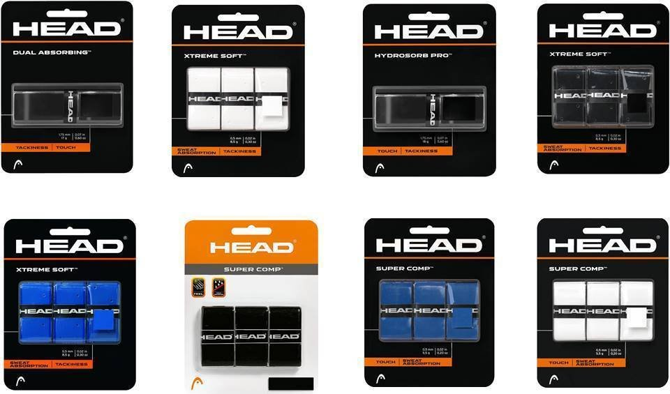 Head Badminton Racket OverGrips pack of 1 / 3 Choose From 8