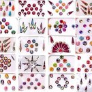 Bindi  Indian  Set of 20 Assorted Packs  Forehead Art  Tika  Kumkum