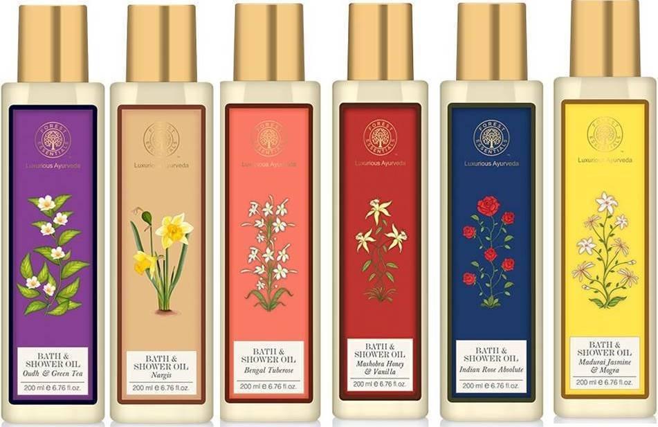Forest Essential Bath & shower Oils 6 Variants 200Ml Each