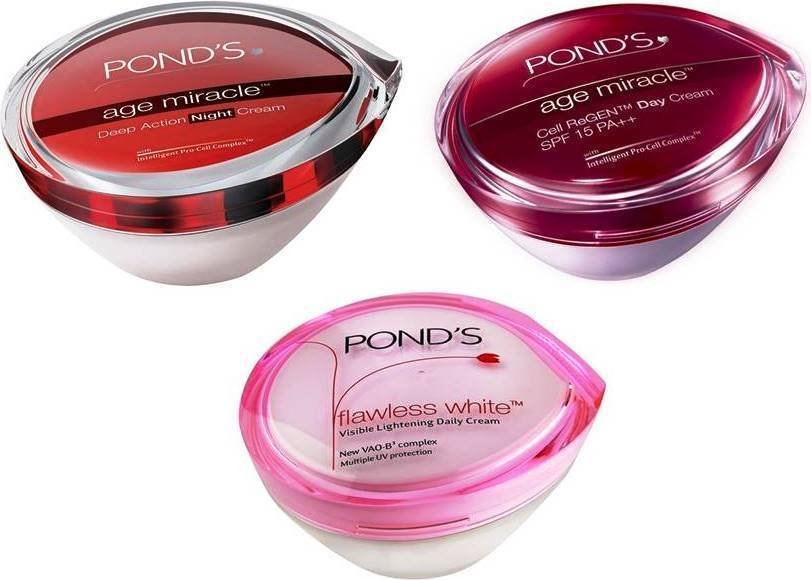 Ponds Flawless White/ Day / Night Cream Skin Care 50 Gm Each