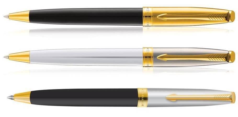 Parker Premium FUSION Gold Trim Ballpoint Pen Choose from 3 Variants