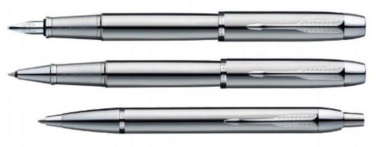 Parker Premium IM SHINY CHROME CT  Fountain(F&M)/Roller Ball/Ballpoint Pen