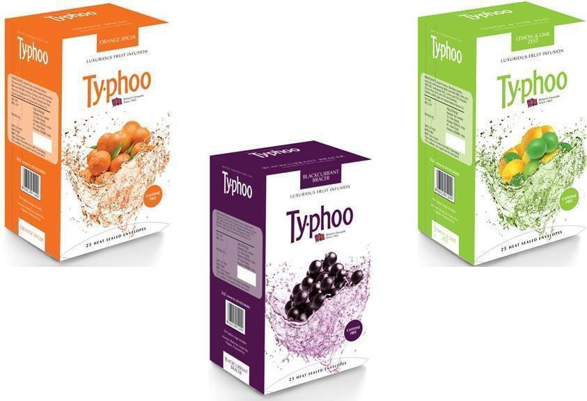 Ty.phoo Fruit Infusion Tea 100 Bags Naturally Caffeine Free Tea choose From 3