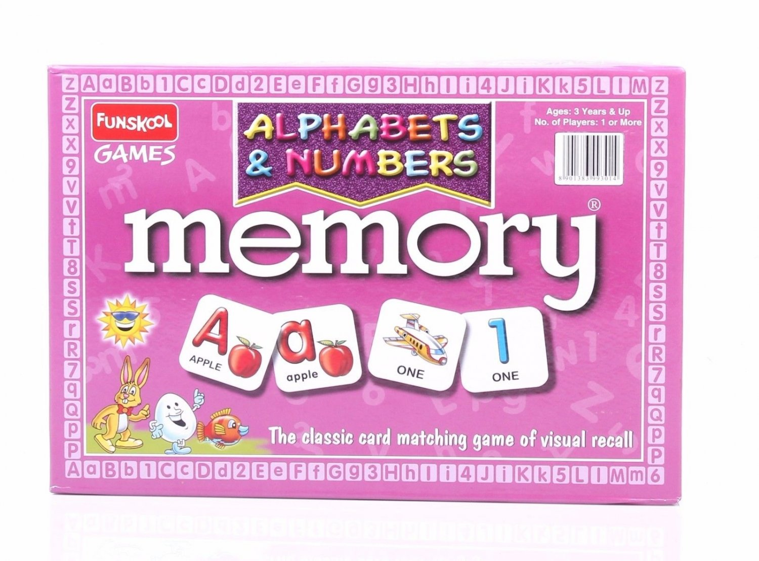 Funskool Memory Alphabets & Numbers Game Social Skills Players 2-4 Age 3+