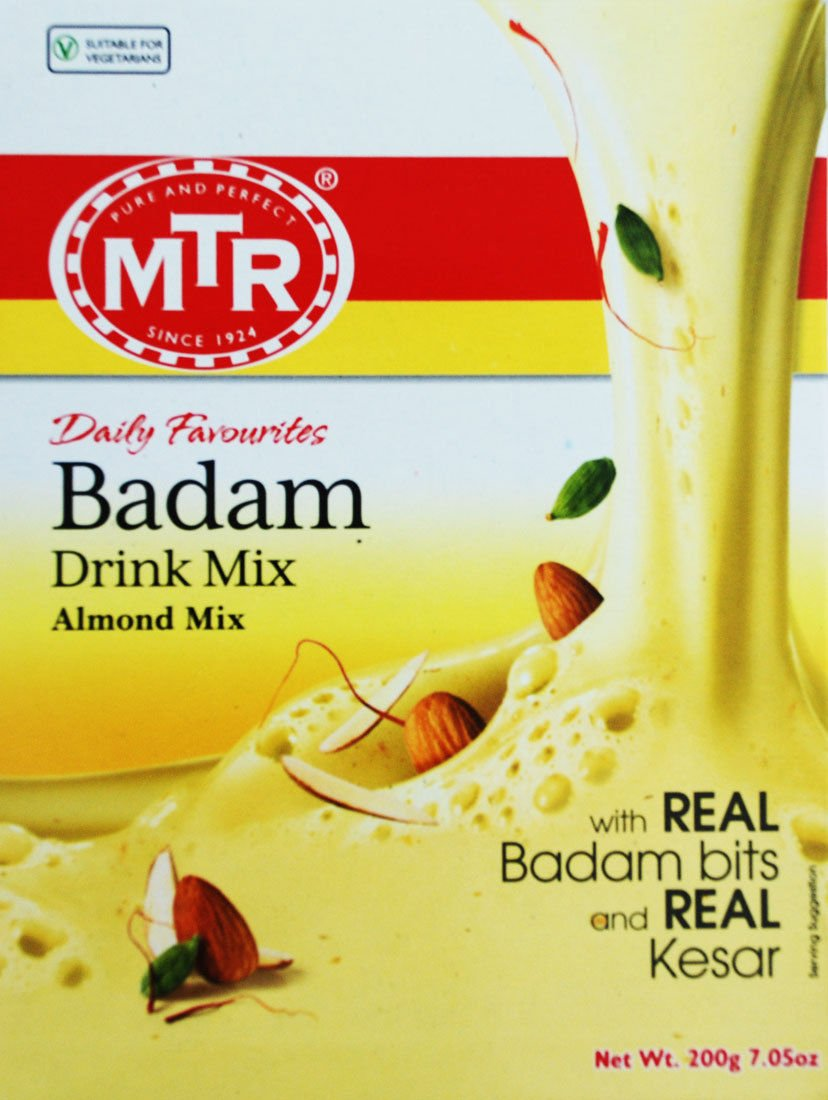 MTR  Badam Drink Mix  200 Gm  Almond Mix  With Real Almond Bits & Kesar
