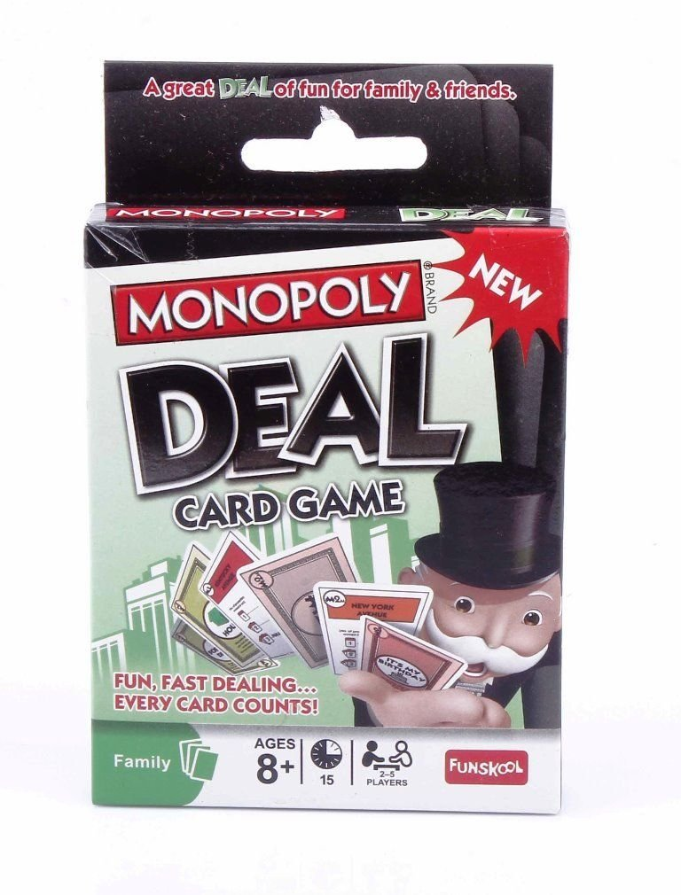 Family Game Monopoly Deal Card Game Funskool 2-5 Players  Indoor Game Age 8+