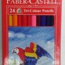 Faber-Castell  24 Tri-Colour Pencils  Triangular Grip  Color Pencils