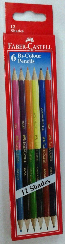 Faber-Castell  6 Bi-Colour Pencils (12 shades)  Color Pencils