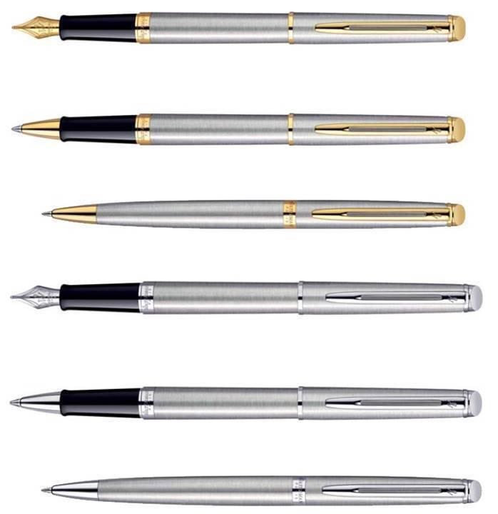 Waterman Paris Hemisphere Stainless Steel GT  / CT Pens Choose from 8