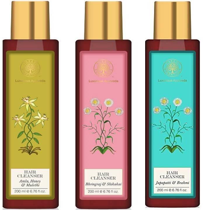 Forest Essential Hair Care Hair Cleansers & Shampoos 3 Variants 200 Ml Each