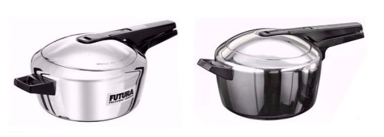 Hawkins  Pressure Cookers  Futura Stainless Steel  Indian Cooker