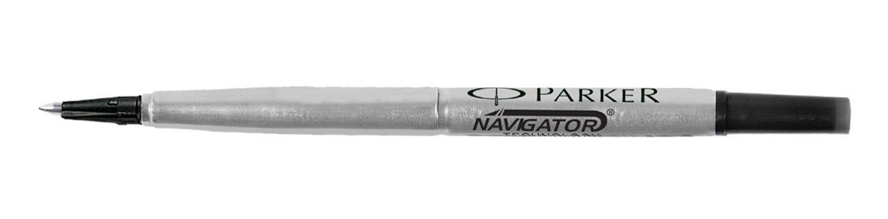 Parker Roller Ball Pen Refill Black Fine 6 Refill Set