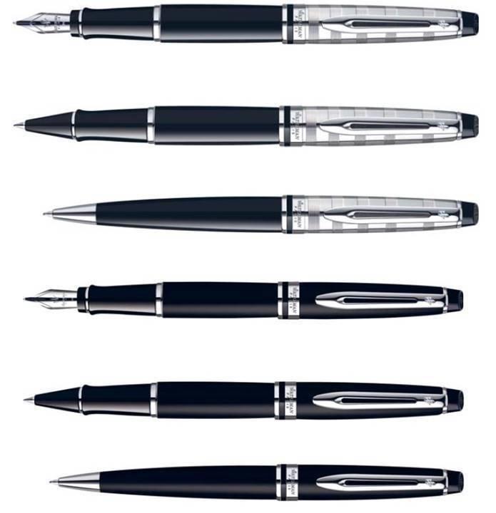 Waterman Paris Expert Deluxe Black CT / Matte Black CT Pens Choose From 8