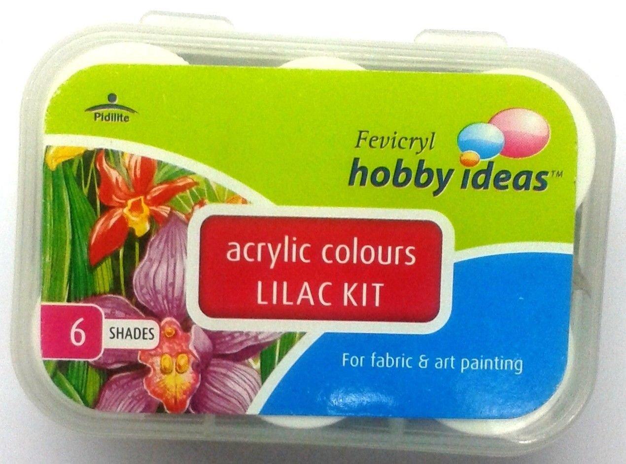 Acrylic Colors 6 Color Set Pidilite Fevicryl Acrylic Colors 10 ML x 6Color