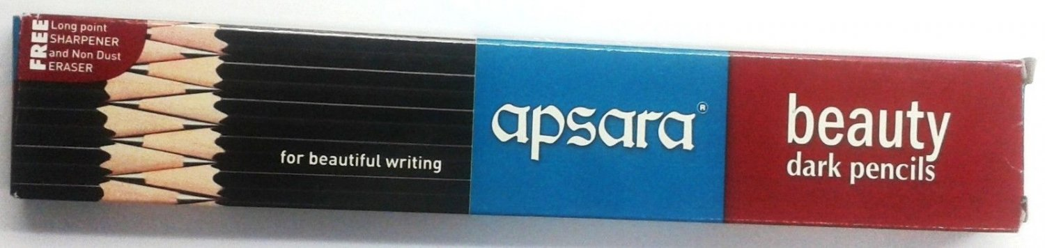 30 Apsara Beauty Pencils  Dark Pencils  172 mm Each  30 India Pencils