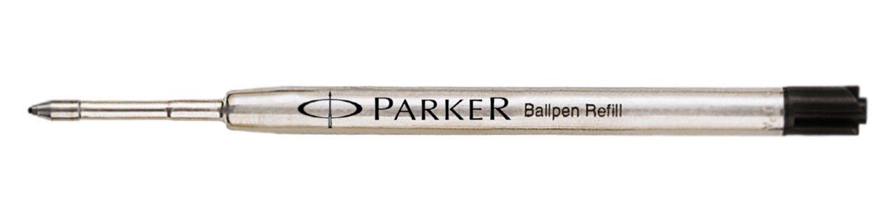 Parker Ball Pen Refill Black Medium 6 Refill Set