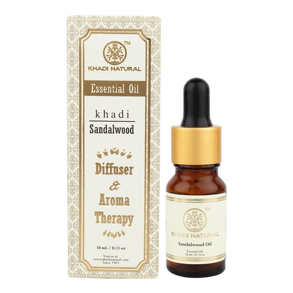 Khadi Natural   4 X 10 ML  Sandalwood Essential Oil Diffuser & Aroma Therapy