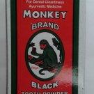 Monkey Brand  100 GM   Black Tooth Powder   100 Year Old Brand   Ayurvedic
