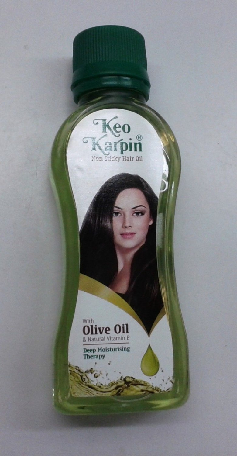 Keo Karpin  100 ML  Non Sticky Hair Oil With Olive Oil ,Wheat Germ & Vit E