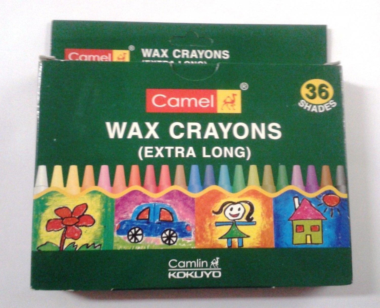 Crayons  Wax Crayons  36 Shades  Camlin Kokuyo  Camel Wax Crayons