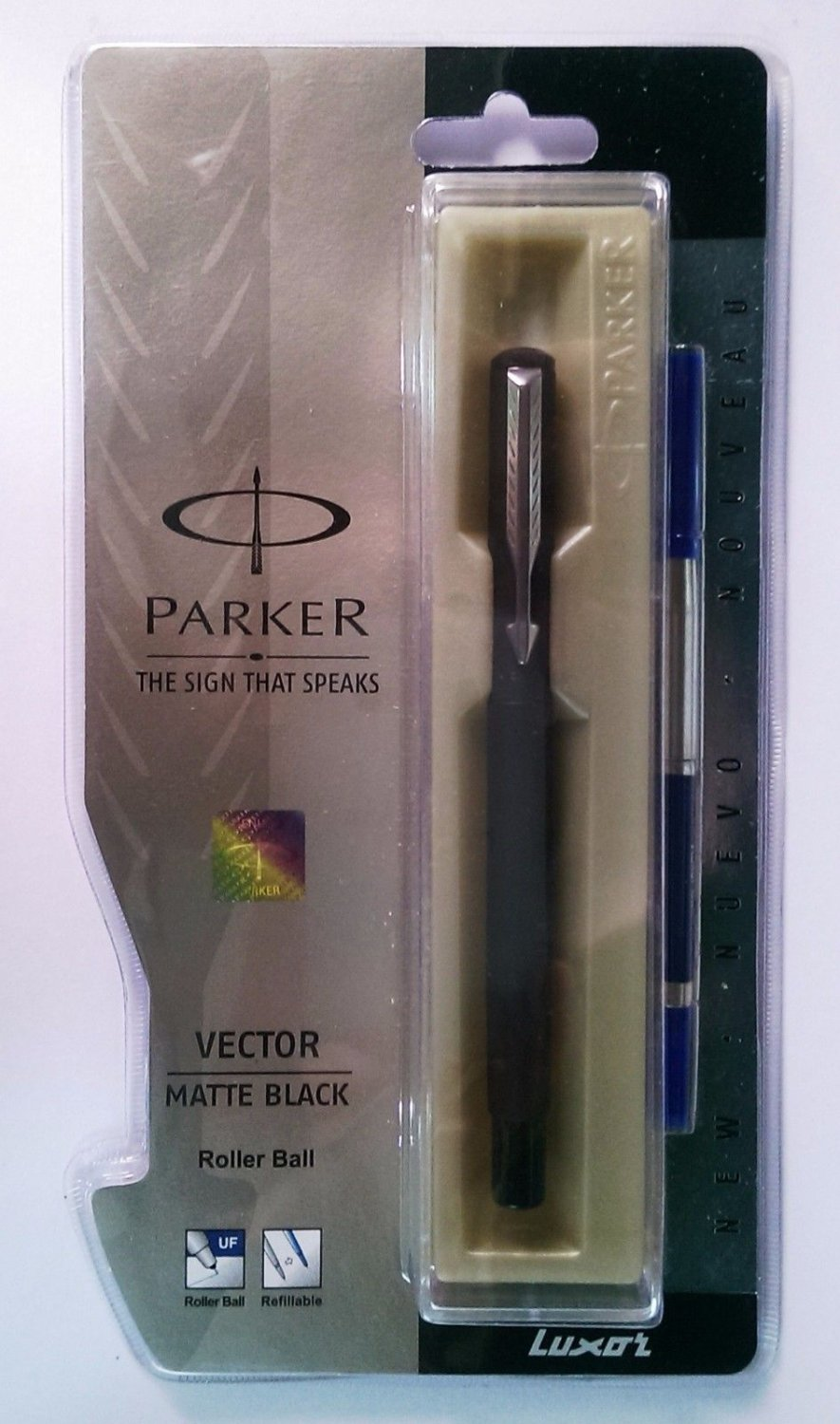Parker Vector Matte Black Roller Ball  With stainless Steel Clip