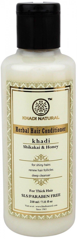 Khadi Natural 4 X 210 ML Shikakai & Honey Hair Conditioner- SLS & Paraben Free