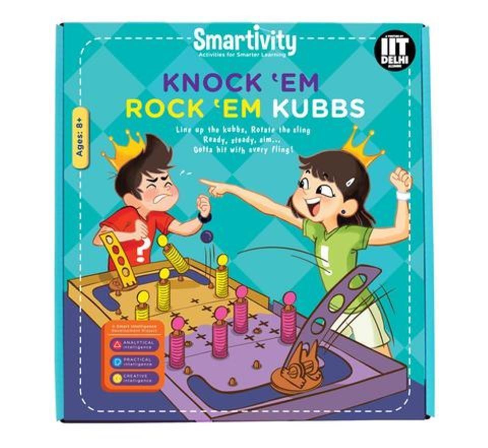 Smartivity Knock 'Em Rock 'Em Kubbs Age 8+ Science Kit DIY
