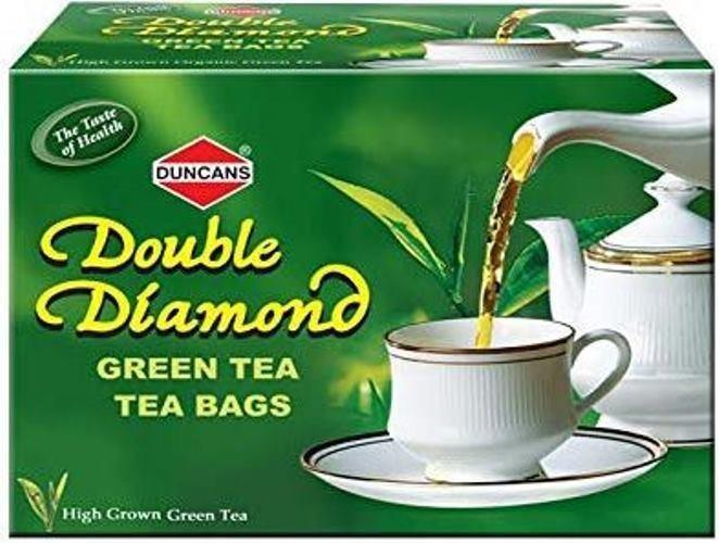 Duncans Double Diamond Green Tea Bags 4 X 25 Tea Bags Old Pack Mfg11/17 Exp11/19