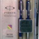 Parker  Vector Standard Gift Set  Roller & Ball Pen  Body Color Blue