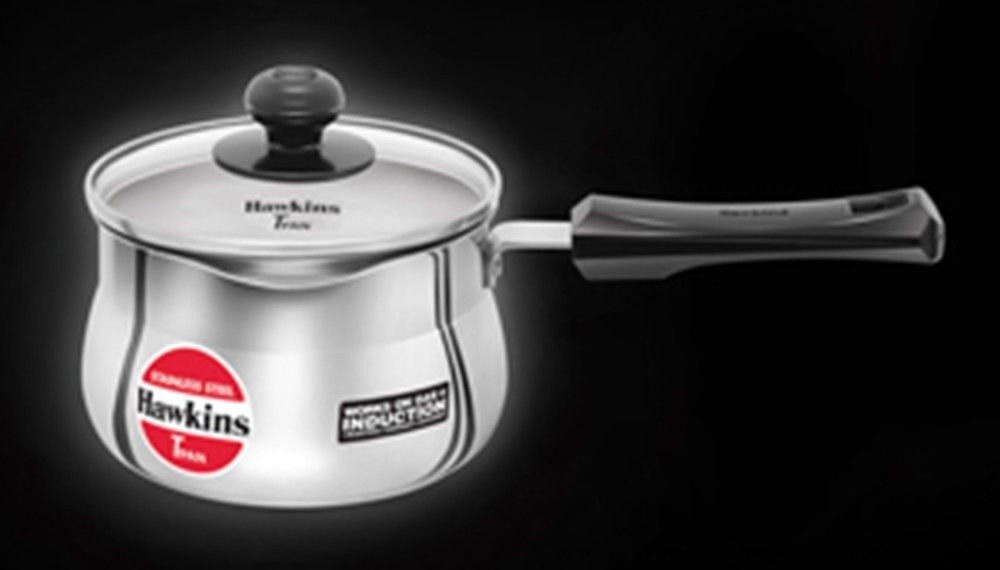 Hawkins Stainless Steel T Pan with glass Lid 1.5 Ltr Induction Compatible