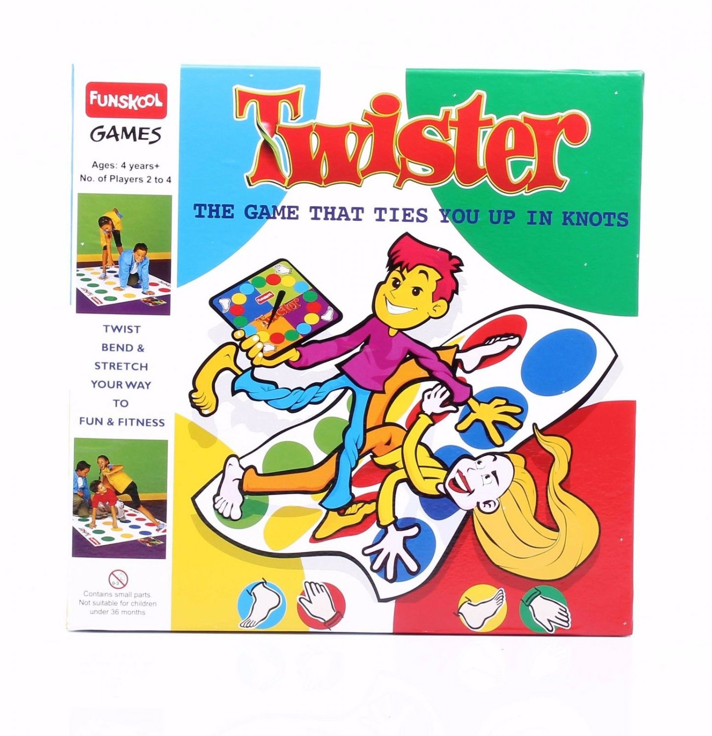 Funskool Twister  Party & Fun Game No.of players  2-4 Players Age 4+