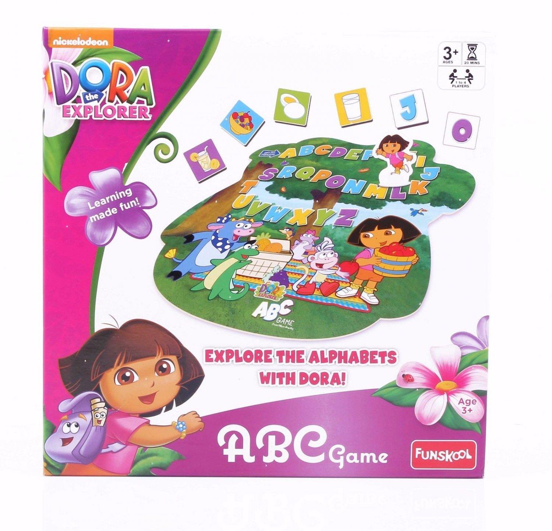 Funskool Dora ABC Game Educative Game Players 1-4 Age 3+