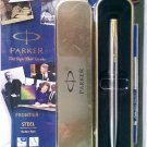 Parker Frontier Steel  Roller Ball  With Gold Clip