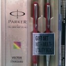 Parker  Vector Standard Gift Set  Roller Ball & Ball Pen  Body Color Red