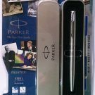 Parker Frontier Steel Roller Ball  With Stainless Steel Clip