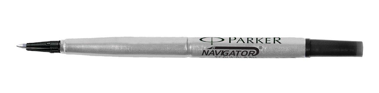 Parker Roller Ball Pen Refill Black Medium 6 Refill Set