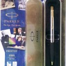 Parker Frontier Steel  Ball Pen  With Gold Clip
