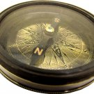 ROBERT FROST PRESENTATION POEM COMPASS ENGRAVED BRASS DIAL POCKET WATCH STYLE