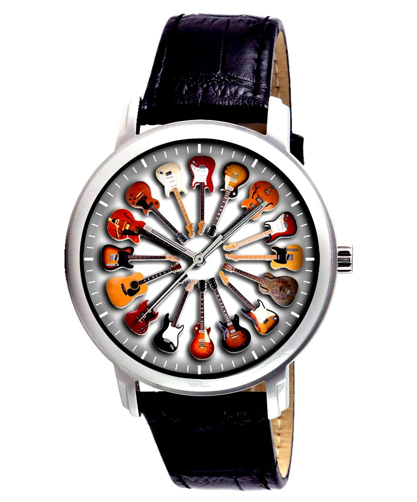CIRCLE OF GUITARS, ACOUSTIC ELECTRIC, LOVELY GUITAR ENTHUSIAST'S  WRIST WATCH