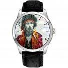 Rare Jimi Hendrix Purple Haze Burning Guitar Concert Art Collectible Wrist Watch