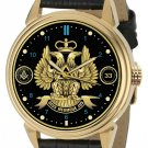 Freemason 33rd Degree Scottish Rite Masonic Twin Crowned Eagles 40mm Wrist Watch