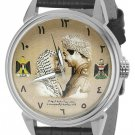 ARAB NATIONALISM YASSER ARAFAT WITH SADDAM HUSSEIN LARGE FORMAT COLLECTOR WATCH