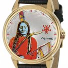 SITTING BULL NATIVE AMERICAN SIOUX LAKOTA CHIEF ANDY WARHOL SIGNED WRIST WATCH