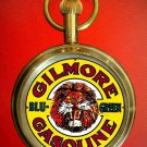 OLD GILMORE LION MOTOR OIL COLLECTIBLE GASOLINE ADVERTISEMENT POCKET WATCH 17J