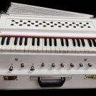 BHAJAN KIRTAN CLASSIC TEAK 3.5 octave, PALITANA REEDS PORTABLE  INDIAN HARMONIUM